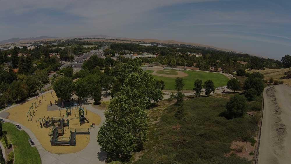 View of Memorial Park in San Ramon, CA